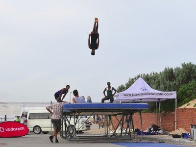 trampoline at the Amanzi Festival