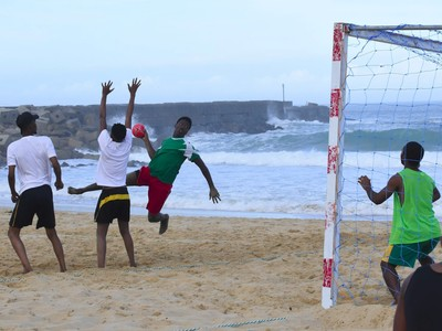 beach handball at the Amanzi Festival