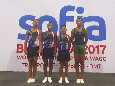 our gymnasts in Bulgaria