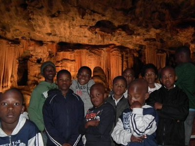 visiting Cango Caves