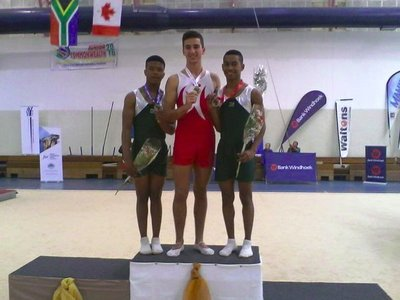 Silver for Onke Mangele at Junior Commonwealth Games