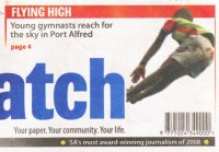 "Daily Dispatch: ""Young gymnastics reach for the sky in Port Alfred"""