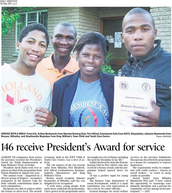 "Daily Dispatch: ""146 receive President's Award for service"""