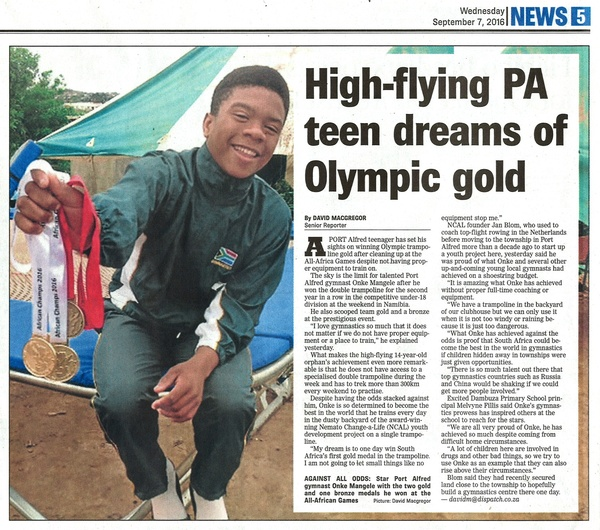 "Daily Dispatch: ""High-flying PA teen dreams of Olympic gold"""