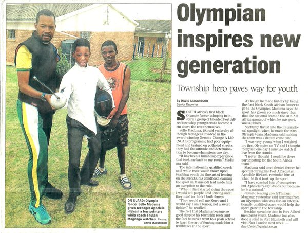 "Daily Dispatch: ""Olympian inspires new generation"""
