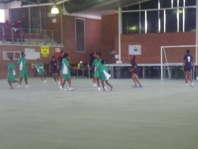Nemato girls playing in Umlazi Invitational Tournament