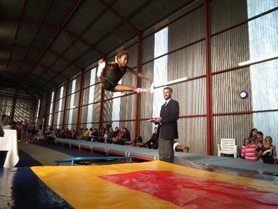 Yonela Baku on the double mini-trampoline