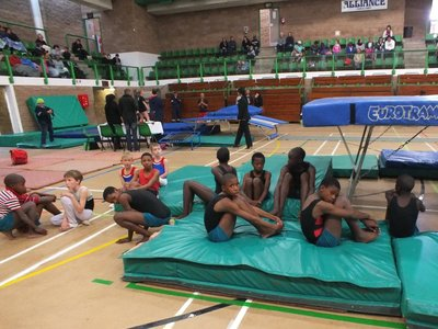 Nemato gymnasts at the Eastern Cape Trials