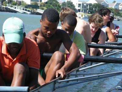 rowing with Eton College boys