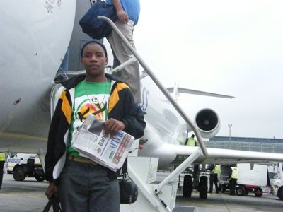 Bongisani Magopheni at OR Thambo International Airport
