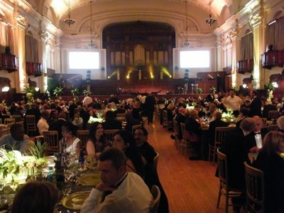 award evening in the magnificent Johannesburg town hall