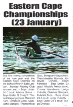 "Kowie Bugle: ""Eastern Cape Championships (23 January)"""