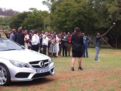 selfie for graduates at Mercedes-Benz South Africa