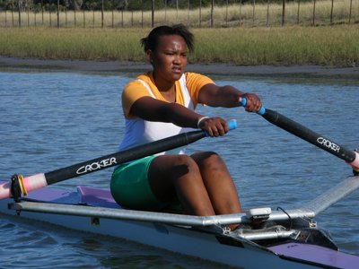 rowing in single-scull