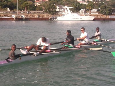 rowing with Olympian Champions