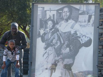 in Soweto, the Hector Pieterson Memorial