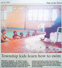 Talk of the Town: Township kids learn how to swim