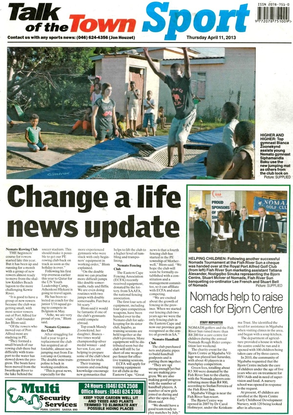 "Talk of the Town: ""Change a life news update"""