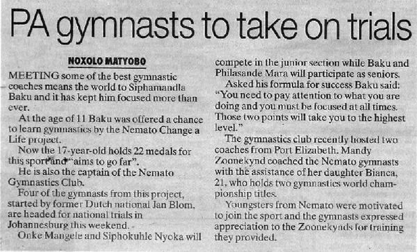 "Talk of the Town: ""PA gymnasts to take on trials"""