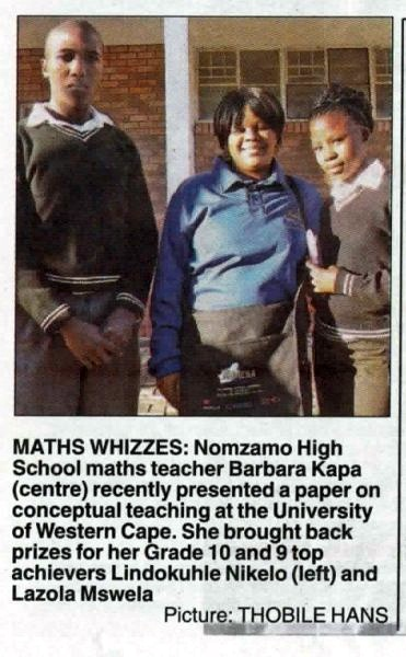 "Talk of the Town: ""Maths whizzes"""