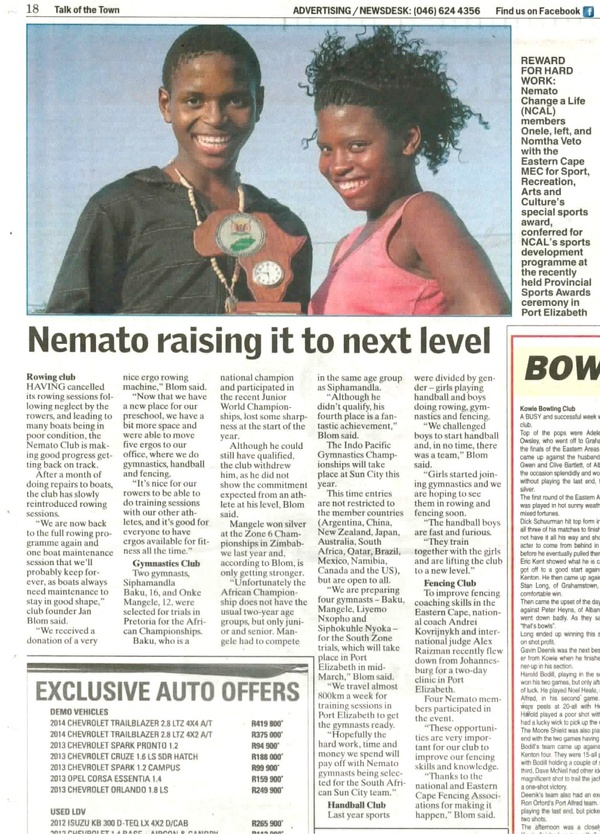 "Talk of the Town ""Nemato raising it to next level"""