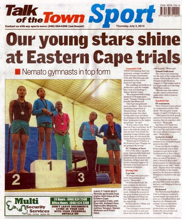 "Talk of the Town ""Our young starts shine at Eastern Cape trials"""