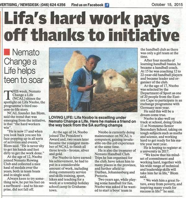 "Talk of the Town: ""Lifa's hard work pays off thanks to initiative"""