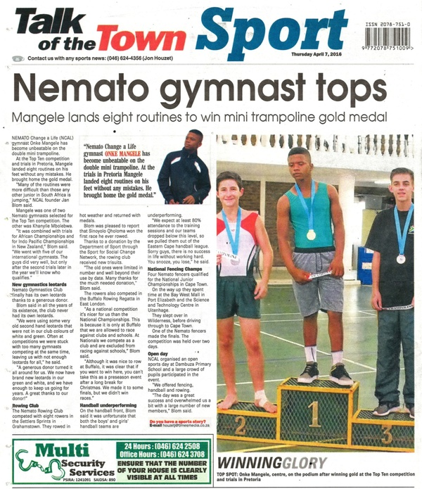 "Talk of the Town: ""Nemato gymnast tops"""