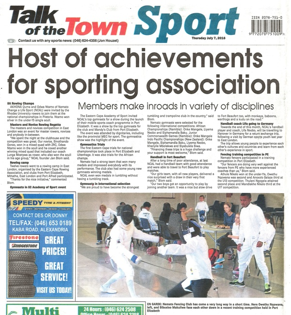 "Talk of the Town: ""Host of achievements for sporting association"""