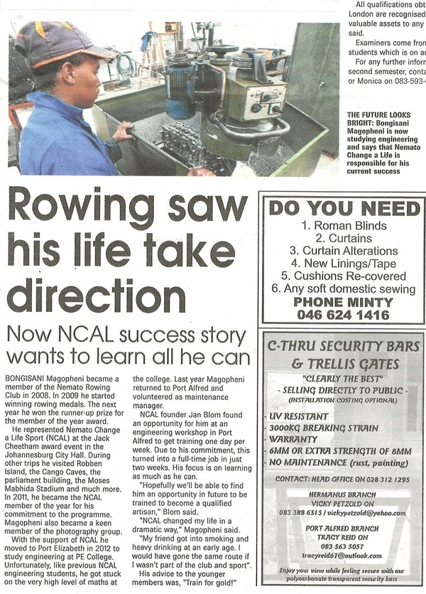 "Talk of the Town: ""Rowing saw his life take direction"""