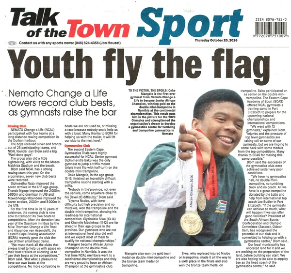 "Talk of the Town: ""Youth fly the flag"""