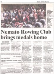 "Talk of the Town: ""Nemato Rowing Club brings medals home"""