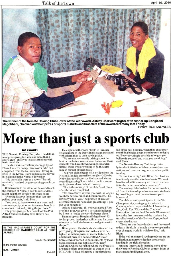 "Talk of the Town: ""More than just a sports club"""