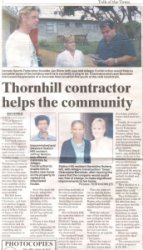 "Talk of the Town: ""Thornhill contractor helps the community"""