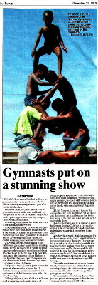"Talk of the Town: ""Gymnasts put on a stunning show"""