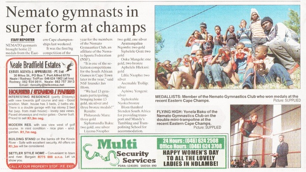 "Talk of the Town: ""Nemato gymnastics in super form at champs"""