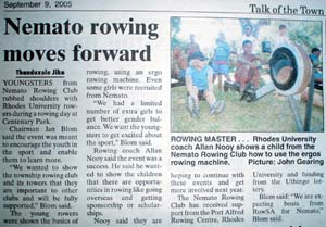 Talk of the Town: Nemato rowing moves forward