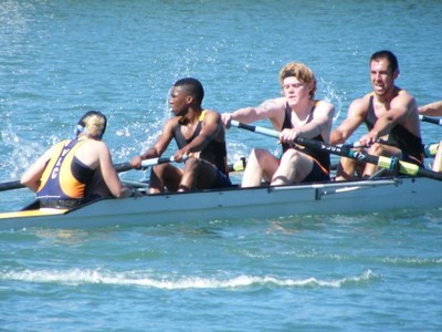 our old rower Athi stroking the UJ B-eight
