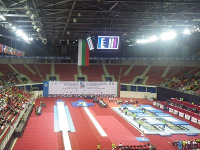 the venue of the Gymnastics World Championships in Bulgaria