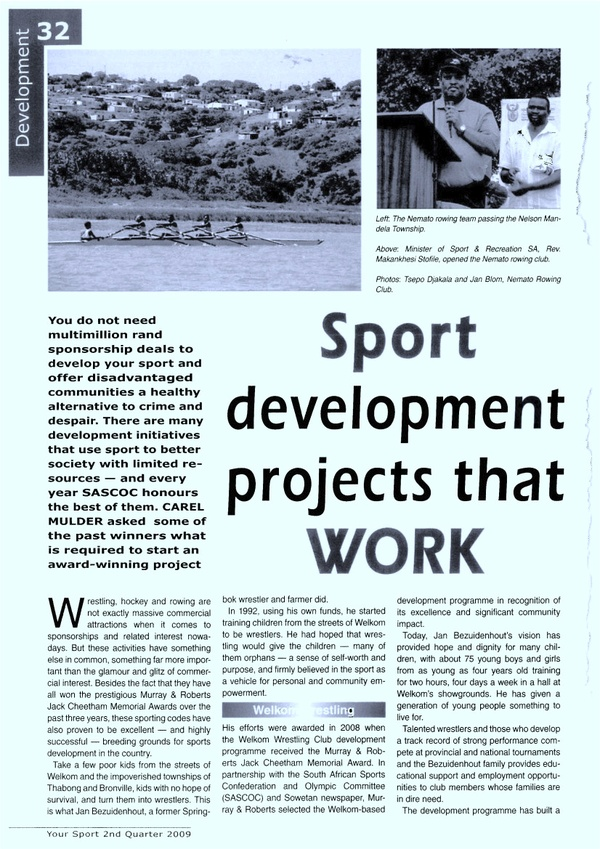 "Your Sport: ""Sport development projects that WORK"""