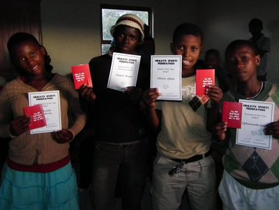 The four winners of vouchers donated by Child Welfare