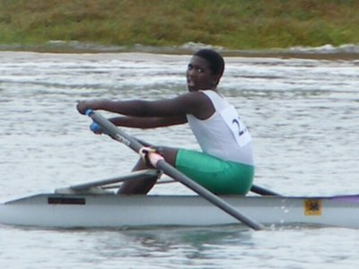 Lindokuhle winning his u14 scull