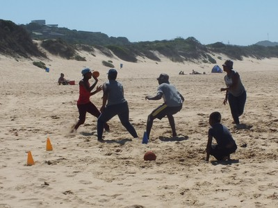 handball on the beach