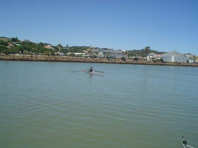 sculling in the Kowie River