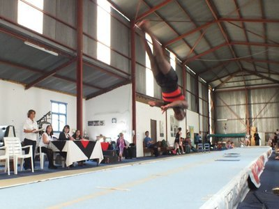Siphamadla on tumbling track at Eastern Cape Trials